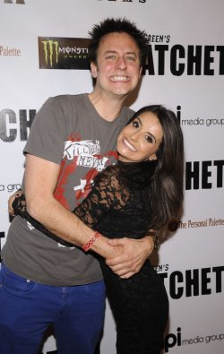 "James Gunn and Mikaela Hoover attend the premiere of the film ""Hatchet II"" in Los Angeles"
