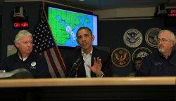 Obama Briefed by FEMA on Hurricane Sandy