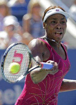Venus Williams and Shahar Peer at the U.S. Open Tennis Championships in New York
