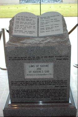 Chief Justice Moore refuses to remove Ten Commandments sculpture
