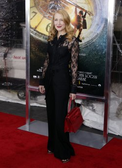 Patricia Clarkson arrives on the carpet for the Hugo Premiere at the Ziegfeld Theater in New York
