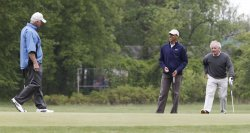President Obama Plays Golf with Senators in Maryland