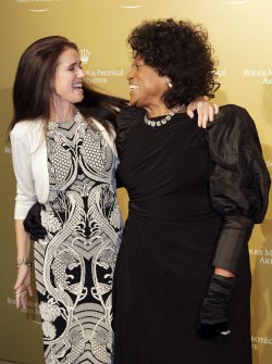 Julie Taymor and Jessye Norman arrive at the 2011 Rolex Mentor & Protege Arts Initiative at Lincoln Center in New York