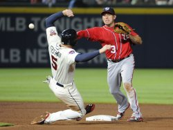 The Atlanta Braves play the Washington Nationals