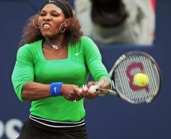 Serena Williams wins second round match at 2011 Rogers Cup in Toronto