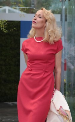 Jerry Hall at Chelsea Flower Show.