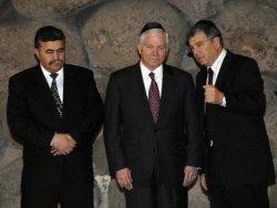 US DEFENSE SECRETARY ROBERT GATES VISITS YAD VASHEM MUSEUM IN JERUSALEM