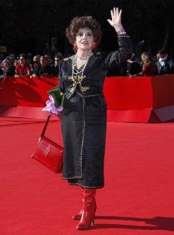 Gina Lollobrigida arrives at the Rome International Film Festival