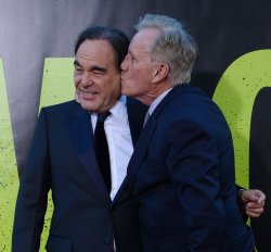 "Oliver Stone and James Woods attend the premiere of ""Savages"" in Los Angeles"