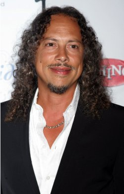 "Kirk Hammet arrives for ""A Celebration of Les Paul"" concert in New York"