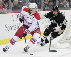 Washington Capitals Nicklas Backstrom in Pittsburgh