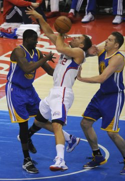 Los Angeles Clippers play the Golden State Warriors in Los Angeles