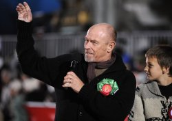 Actor Corbin Bernsen rides in the Hollywood Christmas Parade in the Hollywood section of Los Angeles