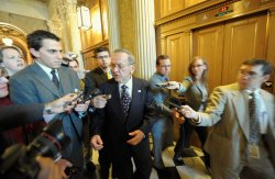Stevens departs Senate in Washington