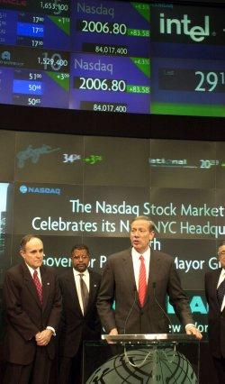 NASDAQ MOVES PERMANENTLY TO NEW YORK CITY