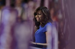 First Lady Michelle Obama speaks about unity at the DNC convention in Philadelphia