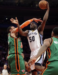 Memphis Grizzlies Zach Randolph at Madison Square Garden in New York