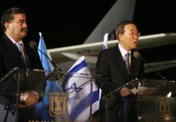 U.N. SECRETARY GENERAL BAN KI-MOON TOURS MIDEAST