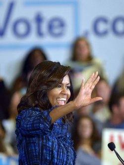 First Lady Michele Obama at Hillary Clinton Rally in Pittsburgh