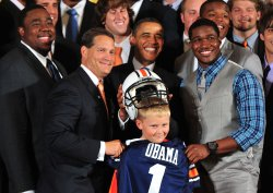 President Barack Obama honors the 2010 NCAA Football Champions Auburn Tigers in Washington