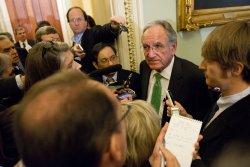 Sen. Tom Harkin talks to the media in Washington