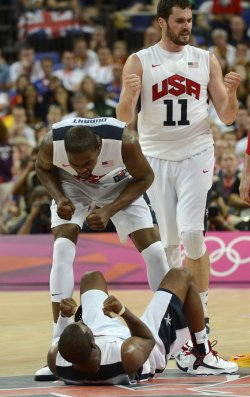 USA-Spain gold medal basketball game at 2012 Summer Olympics in London