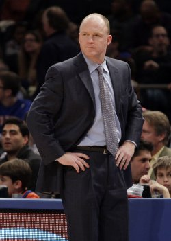 Milwaukee Bucks head coach Scott Skiles at Madison Square Garden in New York