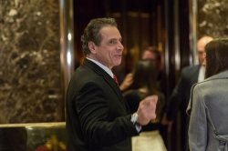 New York State Governor Andrew Cuomo arrives at Trump Tower
