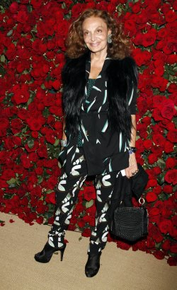 Diane von Furstenberg arrives for the Museum of Modern Art Film Benefit honoring Pedro Almodovar in New York