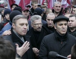 RUSSIAN OPPOSITION PARTIES HOLD A RALLY IN MOSCOW