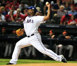 Rangers pitcher Darren Oliver in game 4 of the World Series in Texas