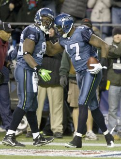 Seattle Seahawks' wide receiver Mike Williams scores touchdown in Seahawks 16-6 win over the St. Louis Rams in Seattle.