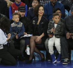 Alicia Keys, Swizz Beatz and children at MSG