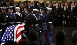 Gerald Ford's Body Lies In State At U.S. Capitol
