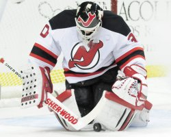 New Jersey Devil Goalie Martin Brodeur in Pittsburgh
