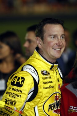 Kurt Busch at NASCAR Bank of America 500 Race at the Charlotte Motor Speedway in Concord, North Carolina