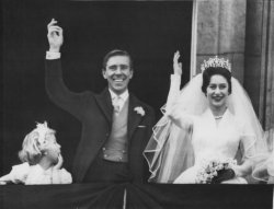 Princess Margaret and Antony Armstrong-Jones are married in London