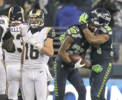 Seattle Seahawks come from behind to beat the Rams 20-13 in Seattle.