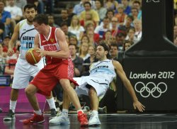 Argentina-Russia men's bronze medal basketball game at 2012 Summer Olympics in London