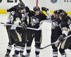 Pittsburgh Penguins Chris Kunitz Celebrates in Pittsburgh
