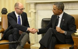 President Obama meets Ukraine's PM Yatsenyuk in Washington