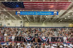 President Donald J. Trump particiaptes in the Gerald R. Ford (CVN78) Commissioning in Norfolk, Virginia.