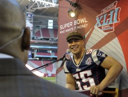 Super Bowl XLII media day in Glendale, Arizona