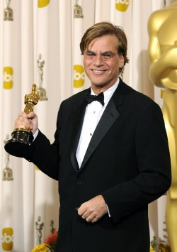 Best Adapted Screenplay winner Aaron Sorkin at the 83rd annual Academy Awards in Hollywood
