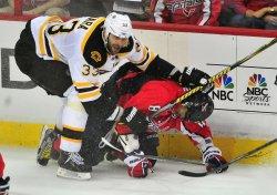 Bruins Zdeno Chara hits Capitals Alex Ovechkin in Washington