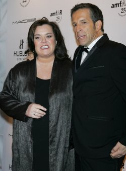 Rosie O'Donnell and Kenneth Cole arrive for the amfAR New York Gala in New York