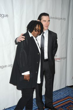 Whoopi Goldberg and Billy Cudrup arrives for the Drama League Awards Ceremony and Luncheon