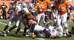 Oakland Raiders Vs Denver Broncos in Denver