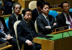 Japan Prime Minister Yoshihiko Noda addresses the 67th session of the General Assembly at the United Nations