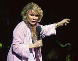 Joan Rivers performs in concert in Hollywood, Florida